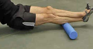 Calf Strain Foam Roller Exercise