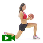lunge with ball video