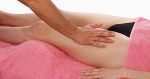 Iliotibial band syndrome massage