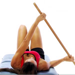 Shoulder mobility exercises using a pole
