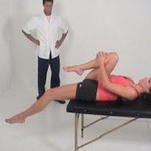 Thompsons test for tight hip flexor and quad muscles