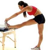 Thigh stretching
