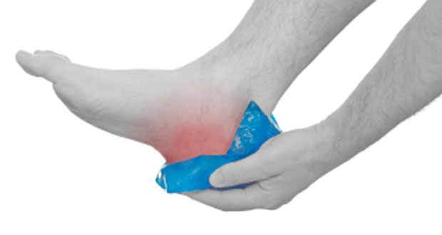 First aid for heel pain