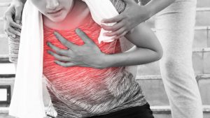 Referred chest pain