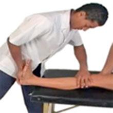 calf strain assessing flexibility