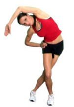 Iliotibial band stretch
