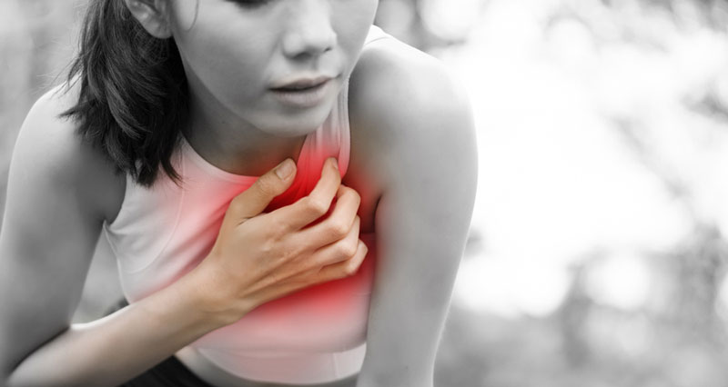 Cardiac chest pain in athletes