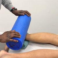 Foam roller for calf muscle