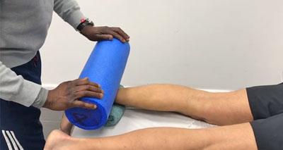 Foam roller for calf muscles