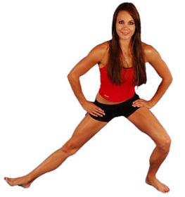 standing groin stretches