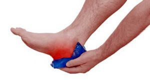 Ice pack for heel pain