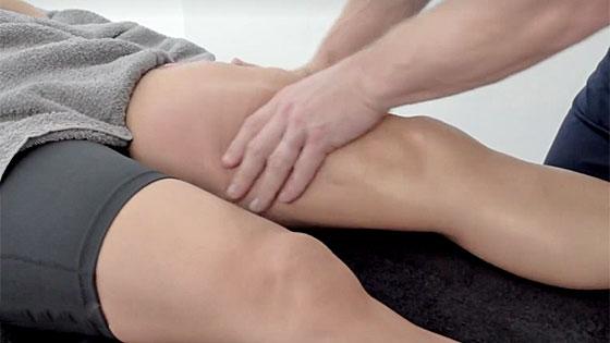 Thigh strain massage