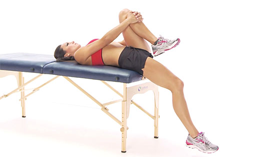 Thomas test for hip flexor and quadriceps flexibility