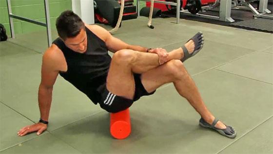 Foam roller exercise for piriformis syndrome