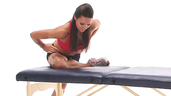 Piriformis stretch in standing