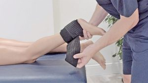 Cold therapy to the achilles tendon