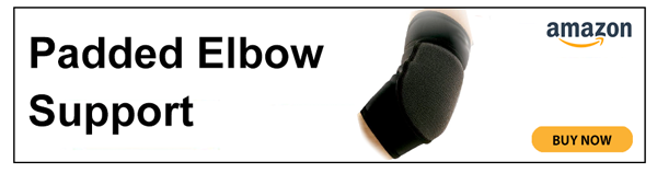 Padded elbow support