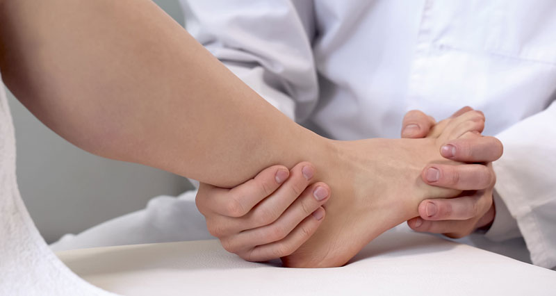 Ankle sprain assessment and diagnosis