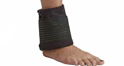 Cold compression ankle wrap