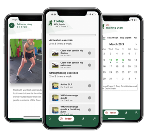 Sports injury rehabilitation app