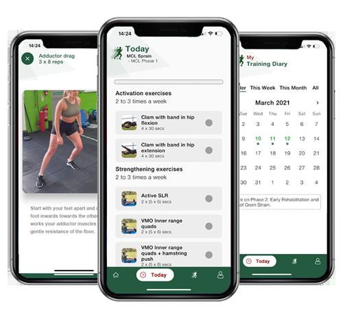 knee rehabilitation mobile phone app