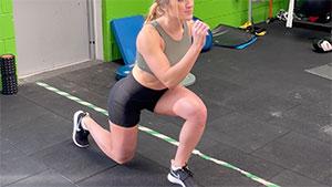 Functional knee rehab exercise