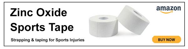 Zinc oxide sports tape
