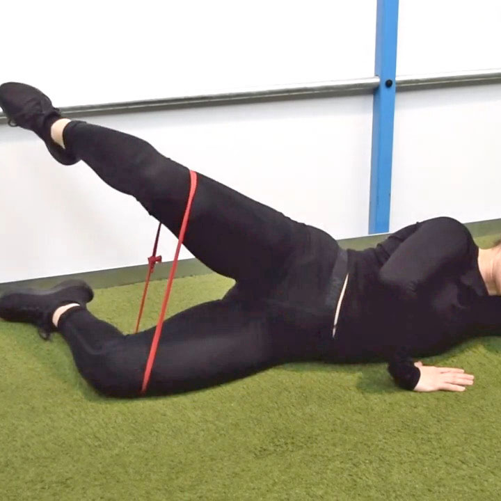 jumper's knee exercises Clam in extension