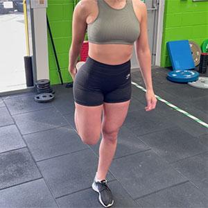 Quadriceps stretch - jumper's knee exercises